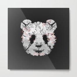 Dark Forest Panda Metal Print