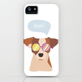 Hipsta Dog iPhone Case