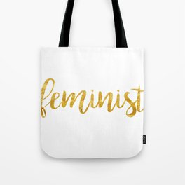 Golden Feminist Tote Bag