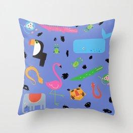 Zoo Animals Throw Pillow