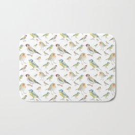 English Garden Bird Pattern Bath Mat