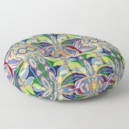 Butterfly mosaic - brightly colored pattern Floor Pillow
