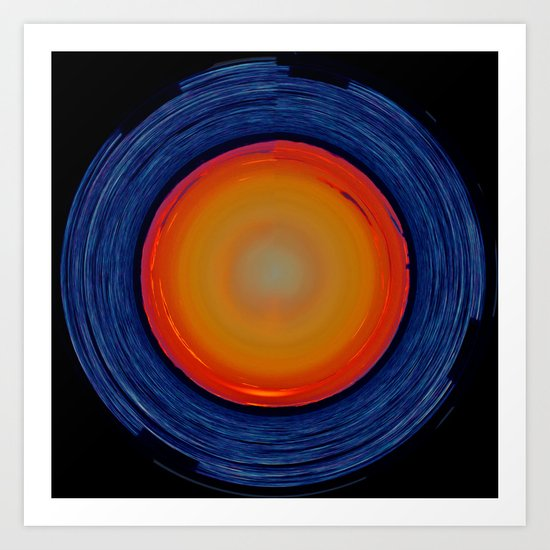 Circular Sunset Art Print
