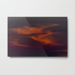 storm annoucement at sunset Metal Print