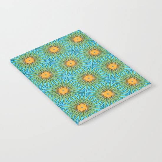 Yellow Salsify Flower Pattern Notebook