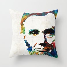 Abraham Lincoln Art - Colorful Abe - By Sharon Cummings Throw Pillow