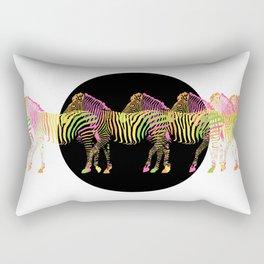 Zebra Line Up 6B Rectangular Pillow