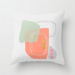 Modern minimal forms 49 Throw Pillow