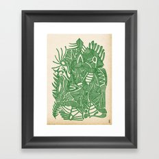 - green hope - Framed Art Print