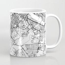 Dubai White Map Coffee Mug