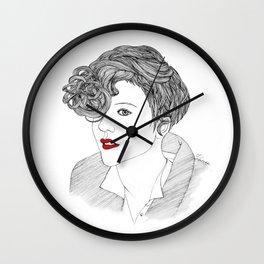 Red lips Girl Wall Clock