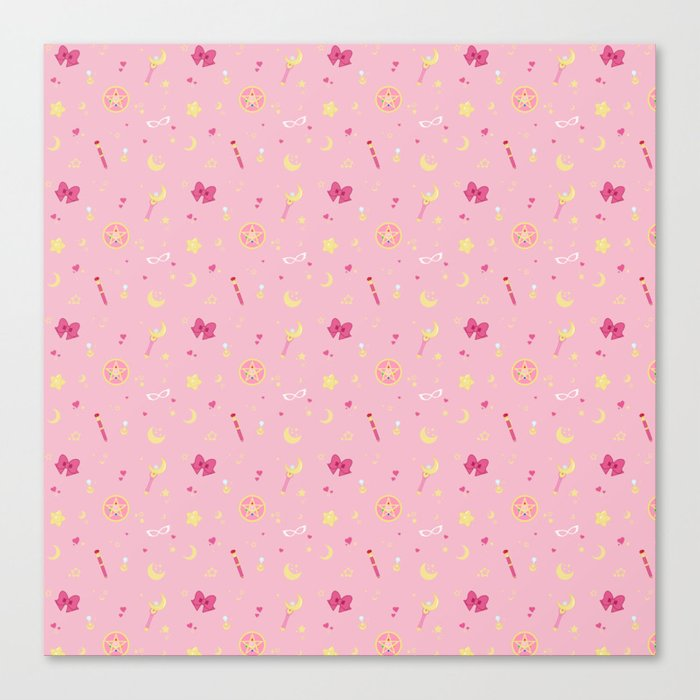 Sailor Moon Pattern Canvas Print