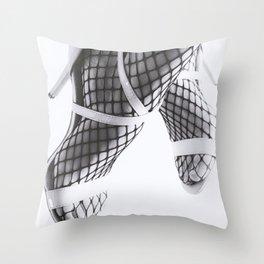 Chace Stuart BW Fishnets Throw Pillow