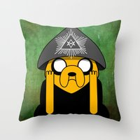 crowley Throw Pillows featuring Jake Crowley by Conversa entre Adeptus