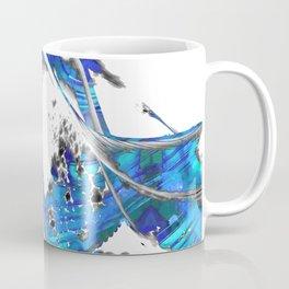 Blue And White Abstract Art - Wave 1 - Sharon Cummings Coffee Mug