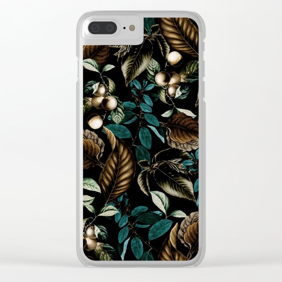 Tropical Night Clear iPhone Case