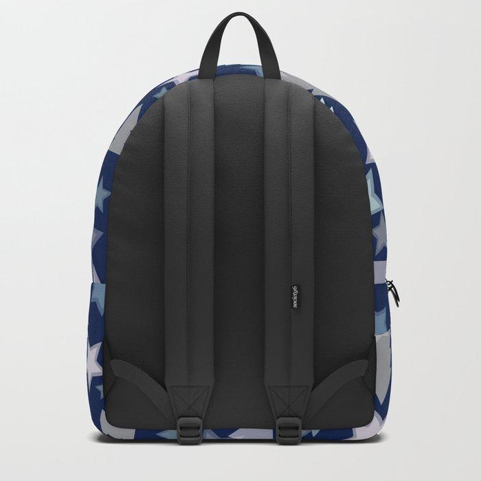 Christmas Landscape blue Backpack