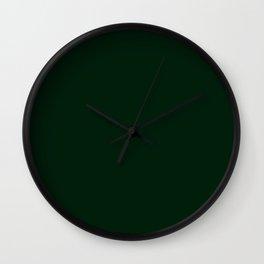 Deep Dark Forest Green - Autumn / Fall / Winter - Block Colours - Nature / Trees Wall Clock