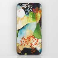 """flora bowley iPhone & iPod Skins featuring """"Rainwash"""" Original Painting by Flora Bowley by Flora Bowley"""