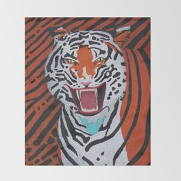 Tiger Mom Throw Blanket