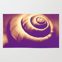 snail Area & Throw Rugs featuring Snail by LoRo  Art & Pictures