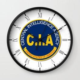 CIA Logo Mockup Wall Clock