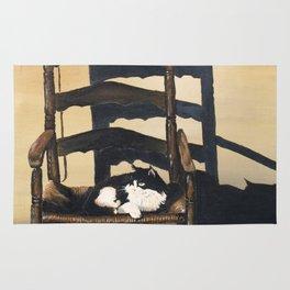 Cat In Wicker Chair Rug