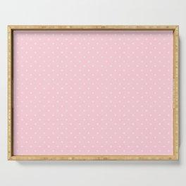 Light Soft Pastel Pink Mini Polka Dot Hearts Serving Tray