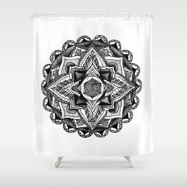 Mandala Circles Shower Curtain