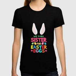 Easter eggs Easter bunny naughty boys funny gift T-shirt