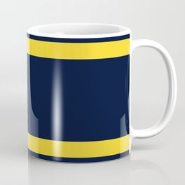 Navy and Yellow Sport Stripes Coffee Mug