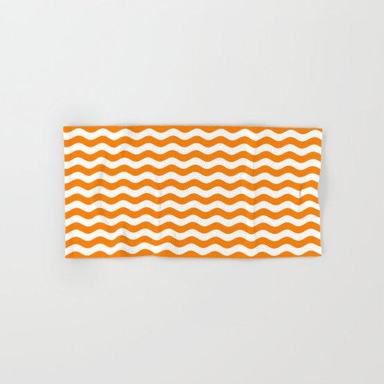 Wavy Stripes (Orange/White) Hand & Bath Towel