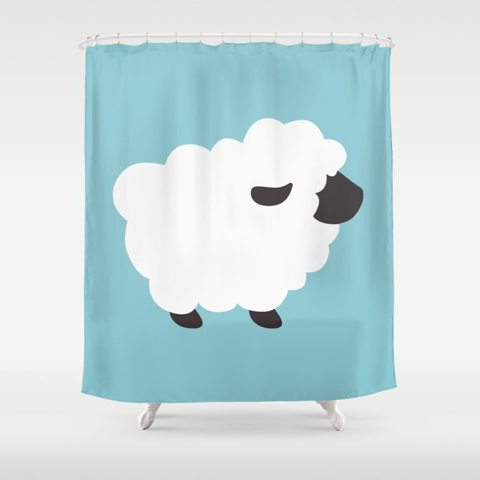 Sheep Shower Curtain By Vinylover78