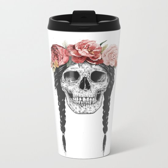 Festival skull Metal Travel Mug