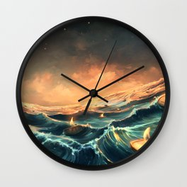 Refugees in a nutshell Wall Clock