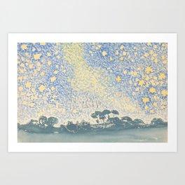 Landscape with Stars by Henri-Edmond Cross 1905–1908, French Art Print