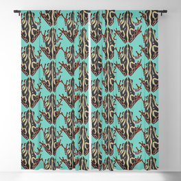 congo tree frog mint Blackout Curtain