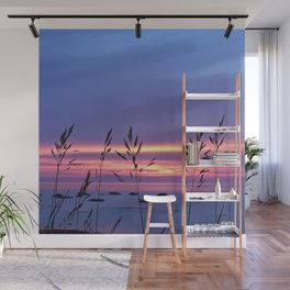 Simplicity by the Sea Wall Mural