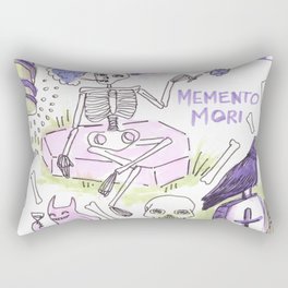 memento mori horror pattern Rectangular Pillow