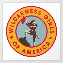 Wilderness Girls of America Art Print