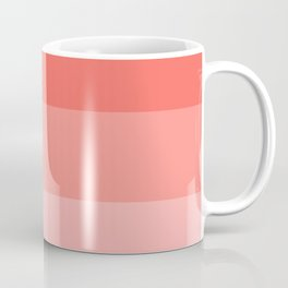 Living Coral Gradient Stripes Coffee Mug