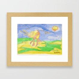 Mi elefante amarillo. Framed Art Print