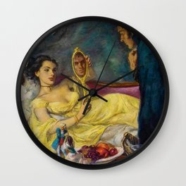 Classical Masterpiece 'Lord Hornblower' by Benjamon Stahl Wall Clock