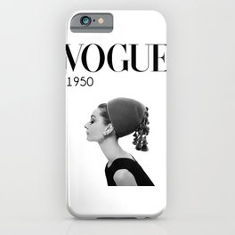 A digitally repainted  1950 Hepburn's Magazine cover iPhone Case