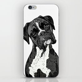 Black and White Boxer iPhone Skin
