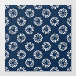Shibori Swircles Canvas Print