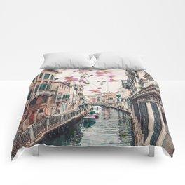 Venice Floral Sky Comforters