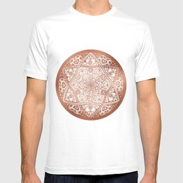 Rose Gold Floral Mandala T-shirt