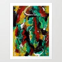 My Blue Heaven Abstract Art Print