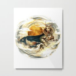 Harvest Moon Witch Metal Print